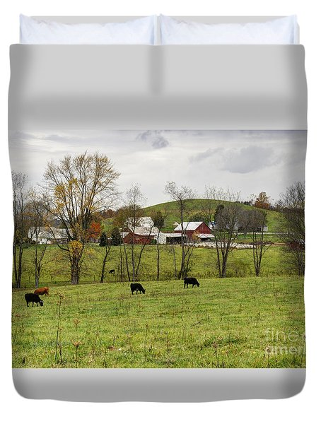 Duvet Cover featuring the photograph Pastoral by Larry Ricker