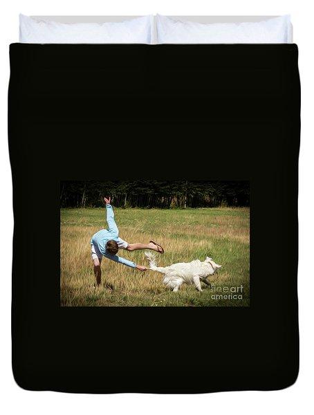 Pasture Ballet Human Interest Art By Kaylyn Franks   Duvet Cover