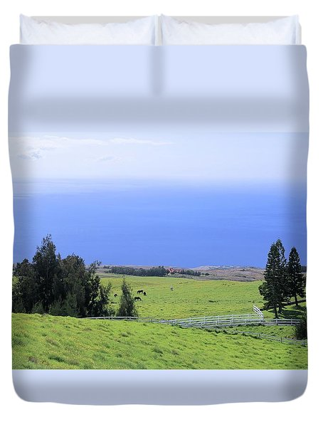Pasture By The Ocean Duvet Cover