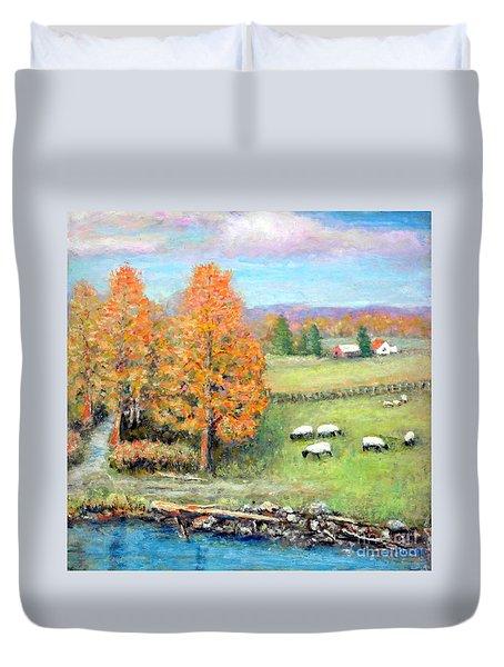 Pasture Happy Duvet Cover