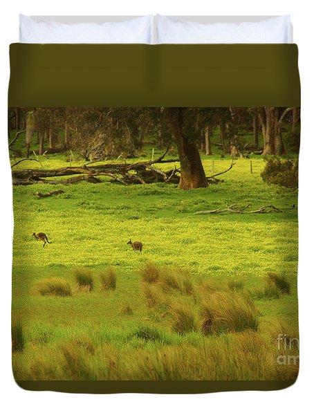 Pasture In Boranup Duvet Cover
