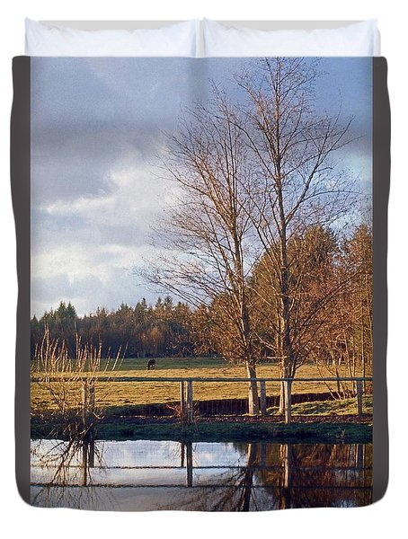 Pasture Pond Duvet Cover by Laurie Stewart
