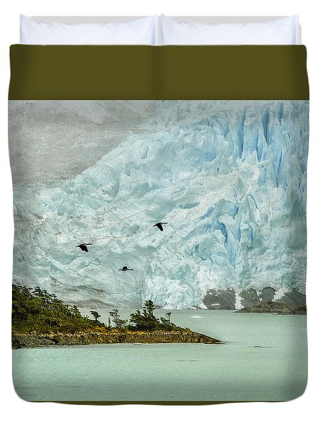 Duvet Cover featuring the photograph Patagonia Glacier by Alan Toepfer