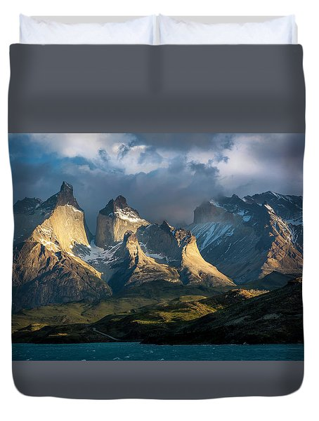 Patagonian Sunrise Duvet Cover by Andrew Matwijec