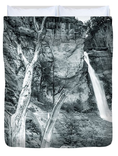 Patagonian Waterfall Duvet Cover by Andrew Matwijec
