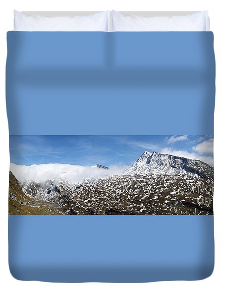 Patches Of Snow Duvet Cover