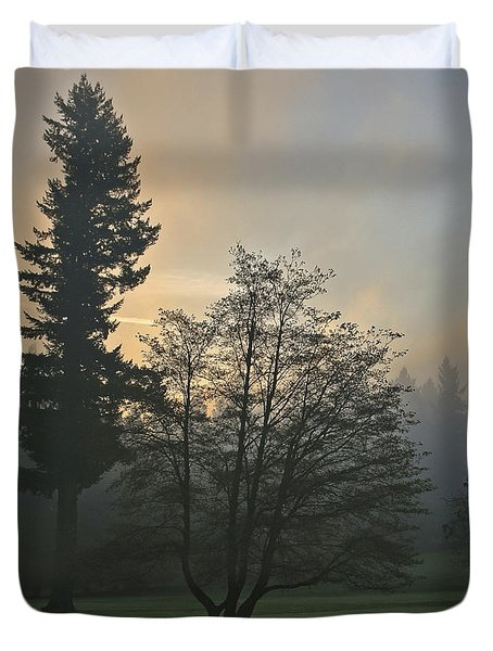 Patchy Morning Fog Duvet Cover