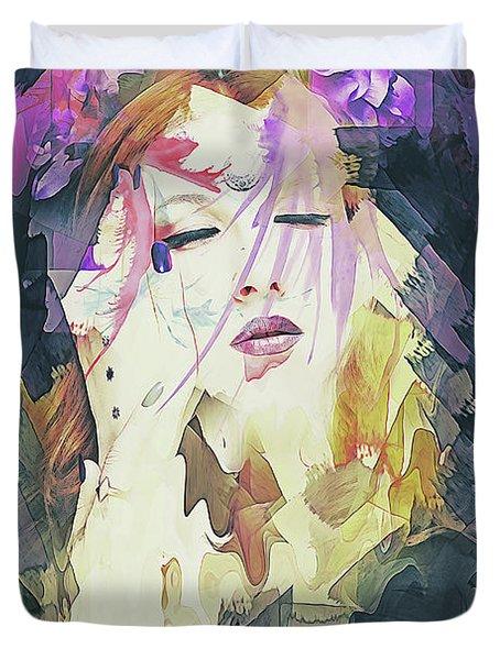 Path Abstract Portrait Duvet Cover