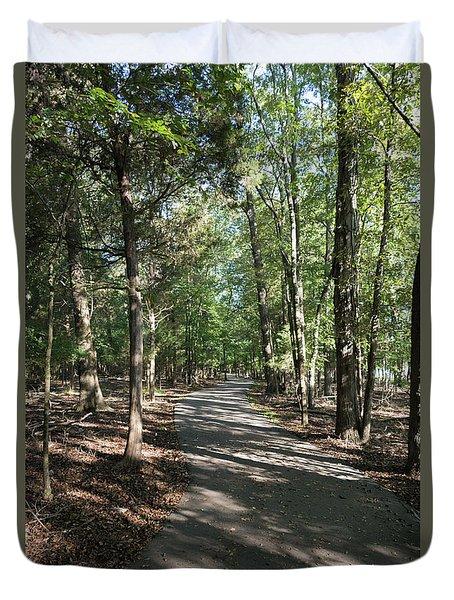 Path Around Lake Duvet Cover