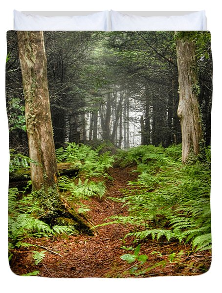 Path In The Ferns Duvet Cover
