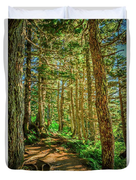 Path In The Trees Duvet Cover