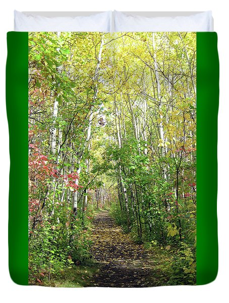 Path In The Woods 3 Duvet Cover