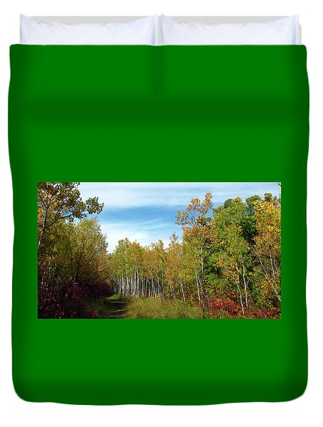 Path In The Woods 7 Duvet Cover