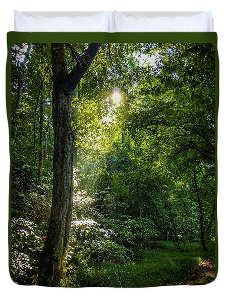 Path Lighting Duvet Cover