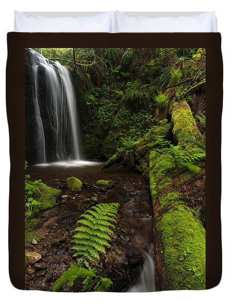 Path Of Life Duvet Cover by Mike Reid