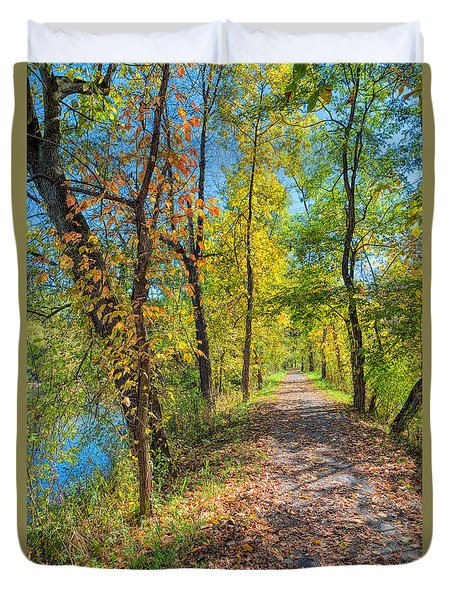 Path Through Fall Duvet Cover