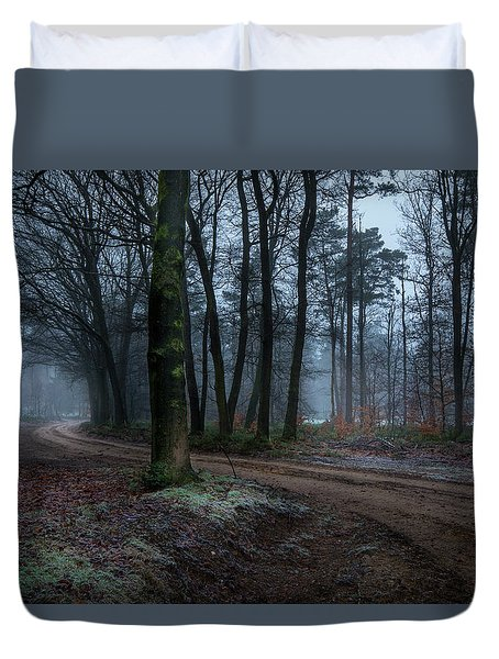 Path Through The Forrest Duvet Cover
