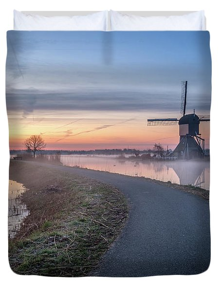 Path Through Windmill City Duvet Cover