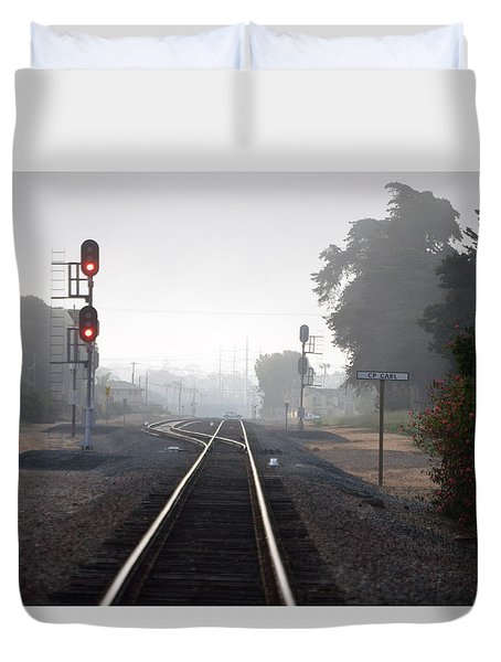 Path To Anywhere Duvet Cover by Bill Dutting