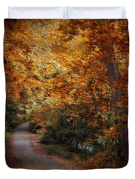 Path To Autumn  Duvet Cover by Jessica Jenney