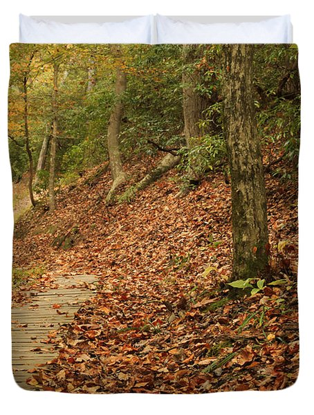 Path To Autumn Duvet Cover