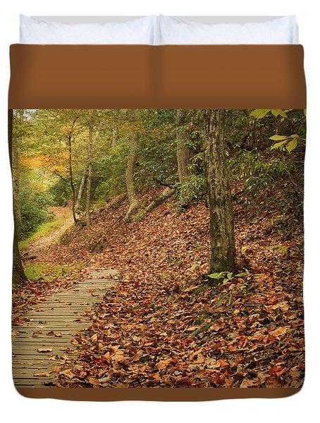 Path To Autumn Duvet Cover
