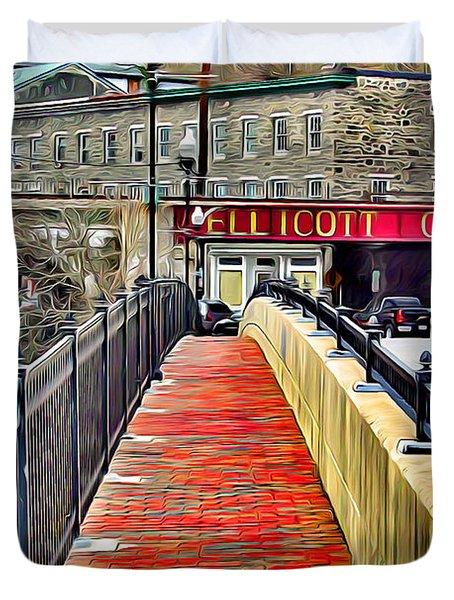 Path To Ellicott City Duvet Cover