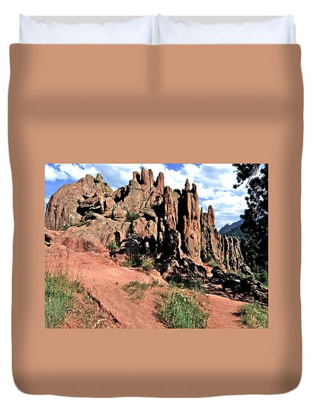 Path To Red Rocks Duvet Cover