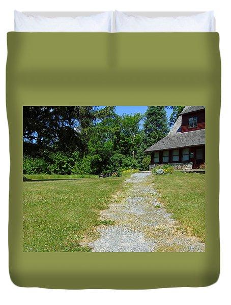 Path To Robert Frost House Duvet Cover by Susan Lafleur