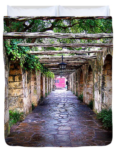 Path To The Alamo Duvet Cover