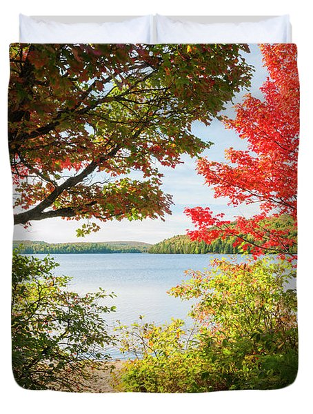 Path To The Lake Duvet Cover