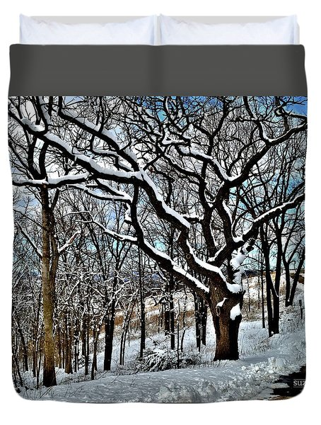 Path To The Lookout Duvet Cover