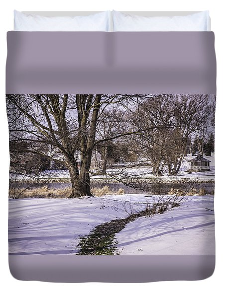 Path To The River Duvet Cover by Anne Witmer
