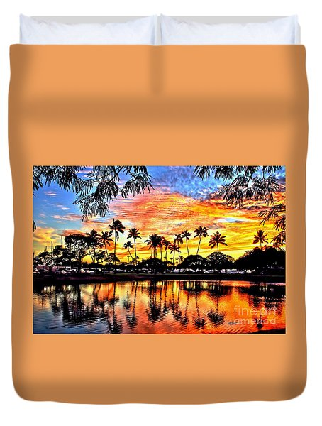 Duvet Cover featuring the digital art Path To The Sea by DJ Florek
