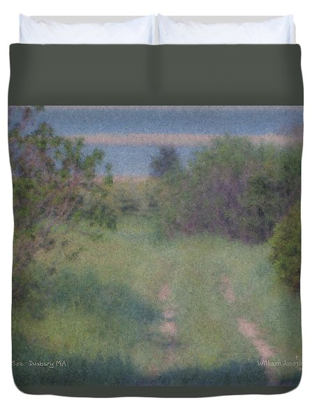 Path To The Sea - Duxbury Ma Duvet Cover