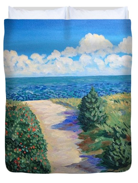 Path To The Sea Duvet Cover