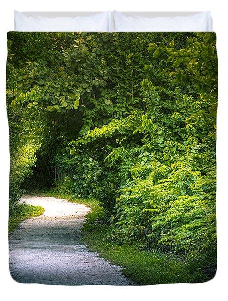 Path To The Secret Garden Duvet Cover