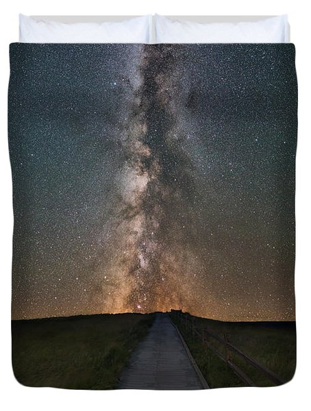Path To The Stars  Duvet Cover