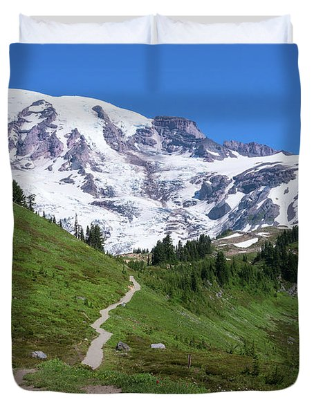 Path To The Summit Duvet Cover