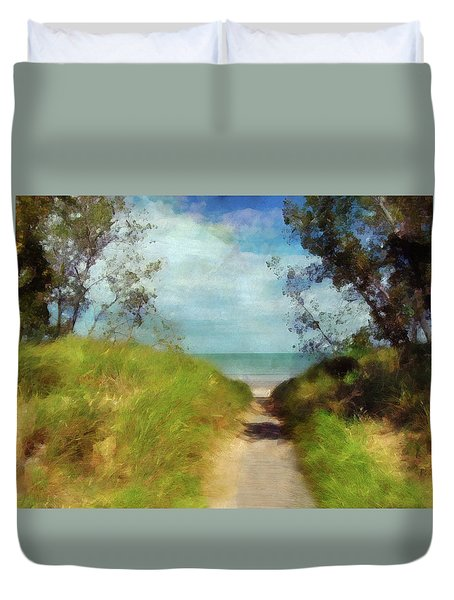 Path To Whihala Beach 2 Duvet Cover by Cedric Hampton