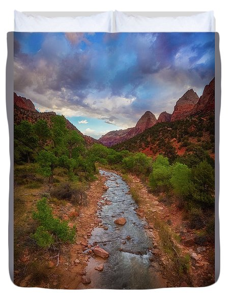 Duvet Cover featuring the photograph Path To Zion by Darren White
