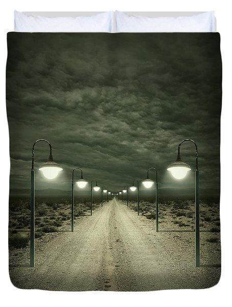 Path Duvet Cover by Zoltan Toth