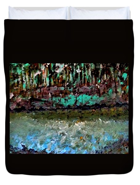Pathless Woods Duvet Cover