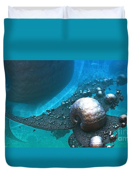 Paths Between Planets Duvet Cover