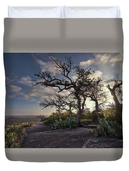 Pathway On Top Of Enchanted Rock Duvet Cover