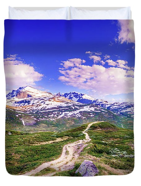 Pathway To A Valley Duvet Cover