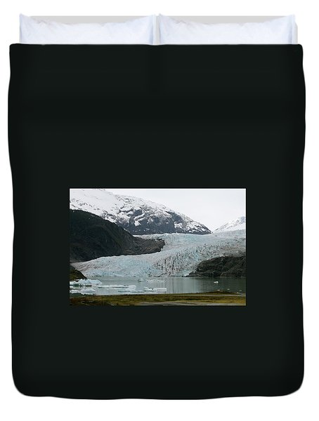 Duvet Cover featuring the photograph Pathway To An Icy Wonderland by Brandy Little