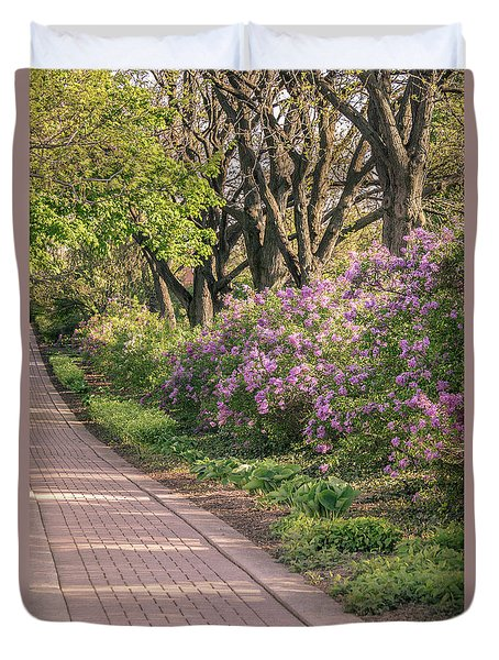 Pathway To Beauty In Lombard Duvet Cover