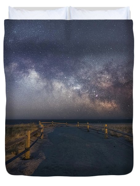 Pathway To The Milky Way  Duvet Cover
