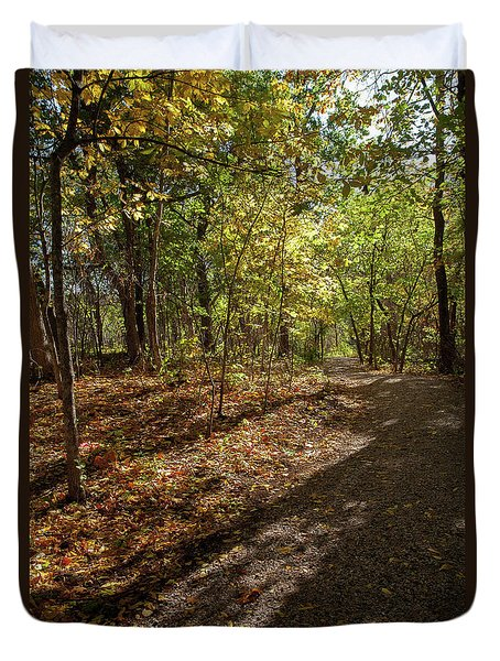 Duvet Cover featuring the photograph Pathways In Fall by Iris Greenwell